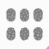 Fingerprint icons set — Stock Vector