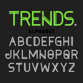 Modern font Trends, alphabet — Stock Vector