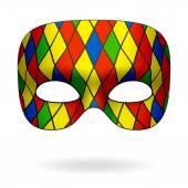 Harlequin mask — Stock Vector