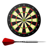 Dartboard with dart — Stock Vector