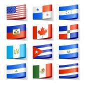 Bandeiras do mundo — Vetor de Stock