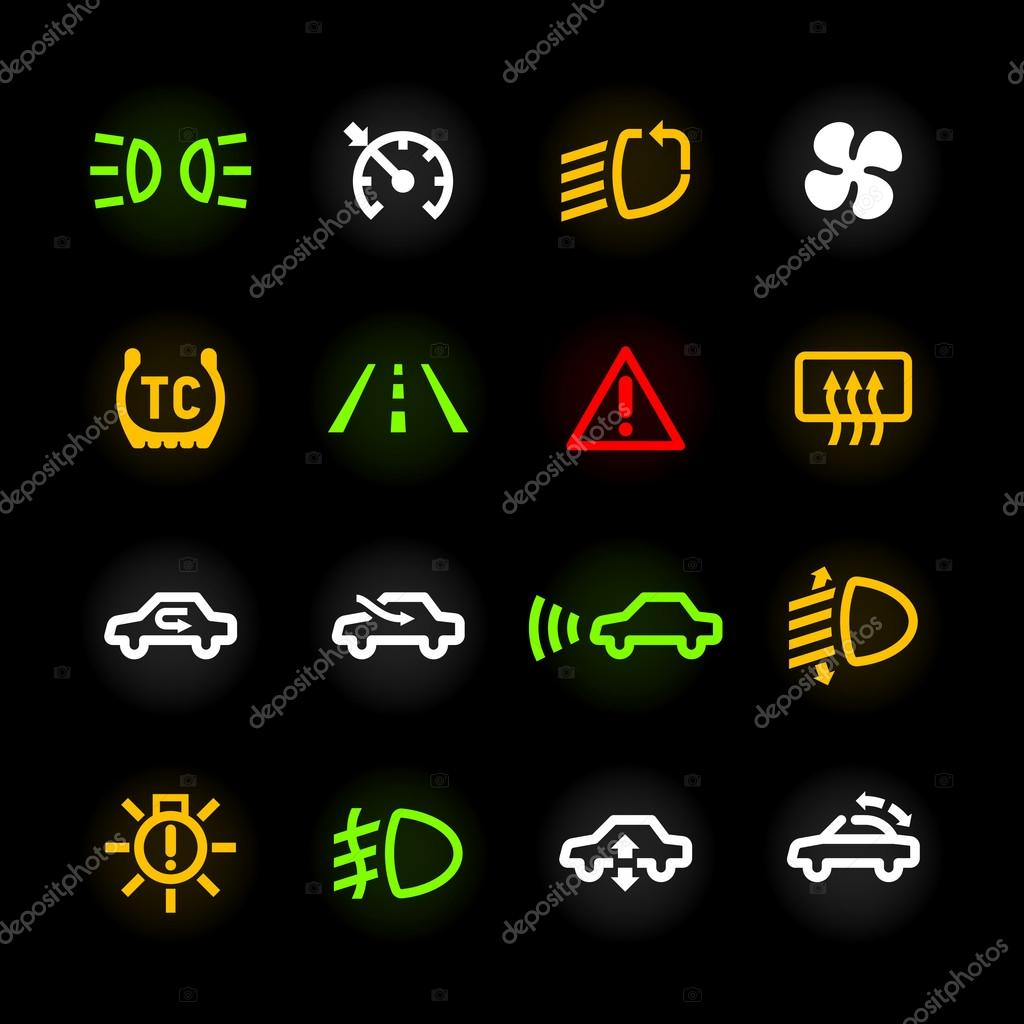 Car Dashboard Icons Stock Vector 169 Alhovik 69936029