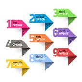 Numbers set infographics elements — Stock Vector