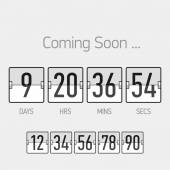 Countdown timer template — Stock Vector