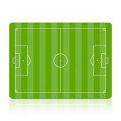 Campo de fútbol verde — Vector de stock