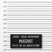 Police mugshot — Stock Vector
