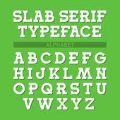 Slab serif typeface — Stock Vector