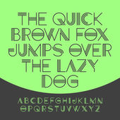 The quick brown fox jumps over the lazy dog, alphabet — Stock Vector