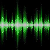 Sound waveform — Stock Vector