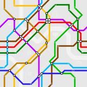 Seamless metro scheme — Vecteur