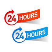 24 hours symbols — Stock Vector