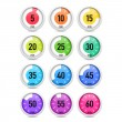Set of colorful timers. — Stockvektor  #78419536
