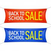 Back to School sale banners — Stock Vector