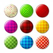 Set of badges with patterns — Stock Vector
