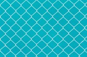 White wire fence on green background — Stock Photo