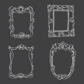 Vintage sketch hand drawn frames — Stock Vector