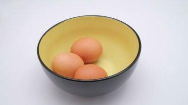 Chicken egg take — Stock Video