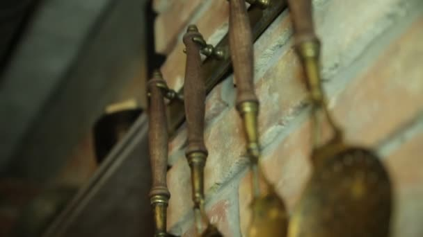 Antigüedades. Película manual — Vídeo de stock