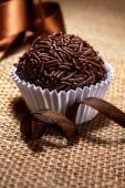 Brazilian sweet Brigadeiro — Stock Photo