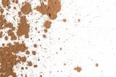 Splash of clay on white — Stockfoto