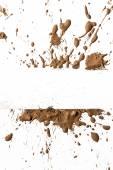 Splash of clay on  white — Stock Photo
