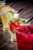 Traditional Japanese cocktails on table — Stock Photo