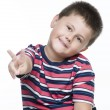 Child gesturing with his two fingers — Stock Photo #69762625