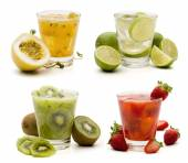 Mojito drinks with fruits — Stock Photo