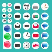 Set of various web and computer icons — Stock Vector