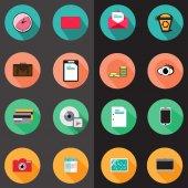 Set of various flat  icons — Διανυσματικό Αρχείο