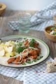 Chicken fillet with adzhika — Stock Photo