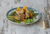 Chicken with oranges — Foto de Stock