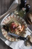 Pilaf com frutos do mar — Fotografia Stock