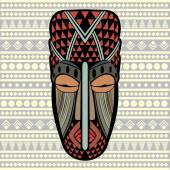 African Mask — Stock Vector