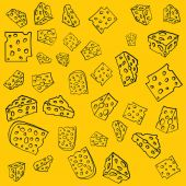 Cheese pattern — Stock Vector