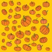 Pumpkin background — Stock Vector
