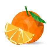 Vector illustration of a orange — Stock Vector