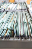 File folders in a filing cabinet — Stock Photo