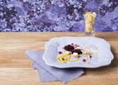 Tasty dessert molecular cuisine — Stock Photo