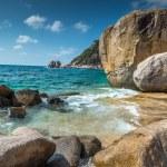 Rocky beach view of Koh Tao island Thailand — Stock Photo #70295077