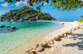 View of Nang Yuan island of Koh Tao island Thailand — Stock Photo