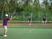 Knock-up of International Tennis championship — Stok fotoğraf