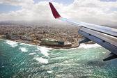 View from an airplane illuminator — Stock Photo
