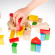 Colorful wooden building blocks — Stock Photo #72706425