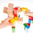 Colorful wooden building blocks — Stock Photo #72706449
