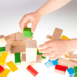 Colorful wooden building blocks — Stock Photo #72706467