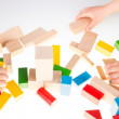 Colorful wooden building blocks — Stock Photo #72706479