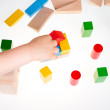 Colorful wooden building blocks — Stock Photo #72706519