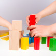 Colorful wooden building blocks — Stock Photo #72706529