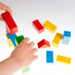 Colorful wooden building blocks — Stock Photo #72706567